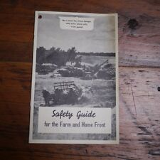Vintage 1940s WWII Farm Safety Guide Wartime Propaganda General Mills Booklet