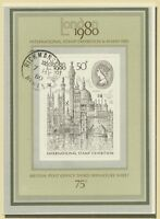 GROSSBRITANNIEN 1980 Block Internationale Briefmarkenausstellung LONDON 1980 CDS