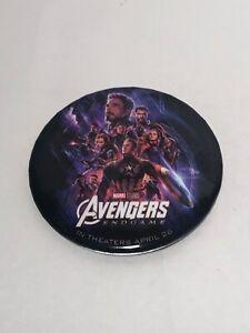 """Avengers Endgame Pin 3"""" Round Promo"""