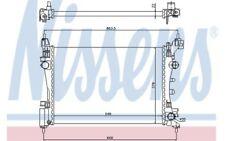 NISSENS Radiador, refrigeración del motor OPEL CORSA FIAT PUNTO VAUXHALL 61918