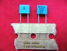 25 pcs - 3300pf (0.0033uf .0033uf) 100v WIMA radial metalized poly film caps