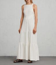 AllSaints Bello Maxi Dress Chalk White UK 14 - MRRP