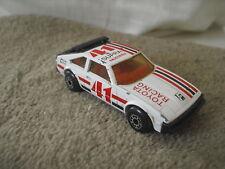 Toyota Racing Supra. 1:60, de 1982 Matchbox. Car Coche miniatura.