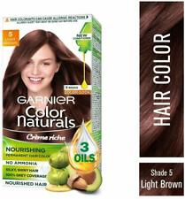 Garnier Color Naturals Creme Hair Color - 5 Light Brown 70ml+60gm Nourished Hair