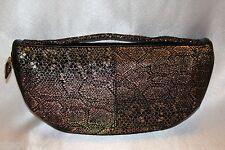 NEW! NWT! HOBO INTERNATIONAL Metallic Iridescent Exotic Snake JAZEL Clutch $138