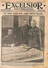 QG Tsar Nicholas II General Mikhail Alekseyev General Nikolaï Ivanov WWI 1915