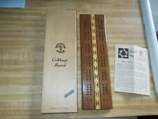 New Vintage 1960's Pacific Game Co-Hollywood Wood Cribbage Board #709