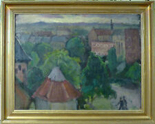 UNINDENTIFIED ARTIST! VIEW OVER THE CITY. NO RESERVE