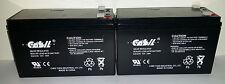 2 Pack - 12V 7,8AH BATTERY 6-DW-7 12V 7AH SHAOXING HUITONG REPL F1