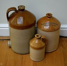 More details for west country stoneware jugs wine merchant advertising alcohol spirit jug flagons