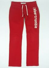 ABERCROMBIE & FITCH Kids LOGO BANDED SWEATPANTS Red Large L
