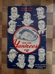 1960 New York NY Yankees Chicago White Sox Scorecard Program Roger Maris Mantle