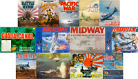 Avalon Hill Pacific War 13-Game Compendium PDF Reference DVD inc Midway Flat Top
