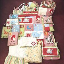Baby Crib Bedding Nursery Set Boy Girl Cocalo Alphabet Soup ABC's Animals Stripe