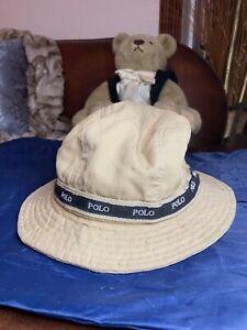 Unisex POLO RL Bucket Hat Casual Flat Basin CottonBeige Khaki Hat