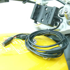 13.3mm - 14.7mm bici del vástago Montaje con audio/cable de alimentación para Garmin Montana