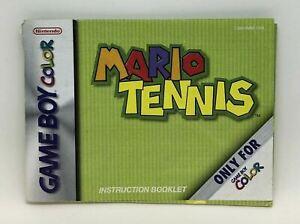 Mario Tennis (Instruction Booklet/Manual Only) Game Boy Color Nintendo Original