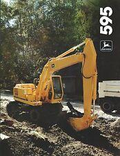 Equipment Brochure - John Deere - 595 - Wheel Excavator - c1986 (E3743)