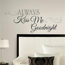 ALWAYS KISS ME GOODNIGHT wall sticker 11 BIG decals romantic LOVE room stickups