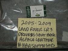 2005-2009 RANGE ROVER LR3 NEW OEM FRONT DRIVERS SEAT BACK ALPACA # HBA500990SMS