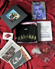 Madonna MSN MICROSOFT UK MUSIC PROMO TOUR INVITE BOX SET Shirt M Necklace Press