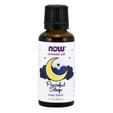 NOW FOODS 100% Peaceful Sleep Oil Blend 1 oz ,Clearance for stained/ dented
