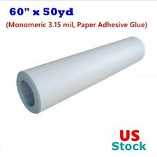 "USA 60"" x 50yd Roll Glossy Cold Laminating Film Monomeric 3.15 mil"