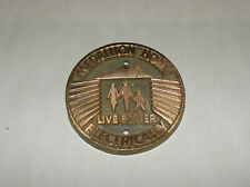 'Medallion Home Live Better Electrically' Copper Plaque Advertisement Medal