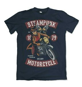 Steampunk Motorcycle mens t shirt Garage Full Speed Cafe Racer Caferacer S-3XL