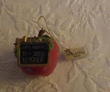 "Apple Happy Holidays Great Teacher Mr. Christmas Ornament 2"" New 1998 Nwt"