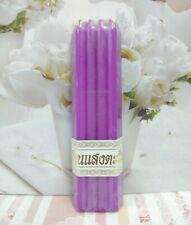 9 Sticks 1Pack Thai Candles Beeswax Lighting Worship Purple Candle Born Saturday