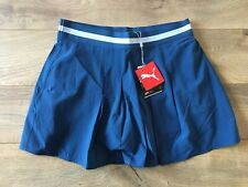 "Puma Tennis Skirt 14"" Dark Denim Blue Gray Women's SZ S ( 595857 02 ) NEW!"