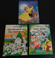 DISNEY Classic Book Series Harcover Lot of 3 Snow White Beauty Beast Dalmatians