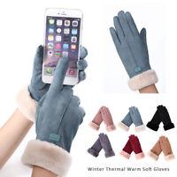 Winter Thermal Warm Soft Sheepskin Gloves Men Women Ladies One Size Warm Soft