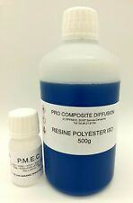 RESINE POLYESTER ISO 500G + CATALYSEUR 10ML