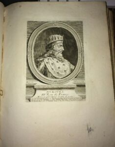 MÉROUÉE. ROY DE FRANCE 448-458. GRAVURE XVIIIÈME.