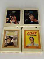 Lot Of 4 Vintage Elvis Presley 8-Track Music Cassette Tapes