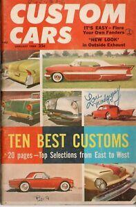 Vtg Custom Cars Magazine Hot Rod Jan 1959 Top 10 best Pictorial Barris Kustoms