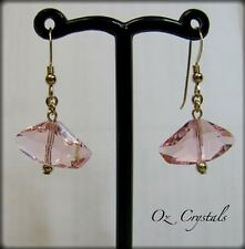 Rosaline Pink Galactic Earrings made with Swarovski & 14 Kt Gold Filled
