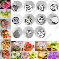 New 11pc Russian Tulip Flower Icing Piping Nozzles Cake Decor Tips Baking Tools