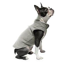 Gooby Dog Fleece Vest with Leash Attachment, Gray, XL