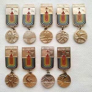 1973 Universiade Moscow Soviet Pin Badge Sports FISU 9 pcs ☭
