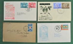 SRI LANKA CEYLON STAMP COVERS SELECTION OF 4  MOST FDC`S (G190)
