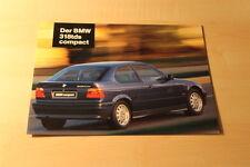 00454) BMW 3er Reihe E36 318tds compact Prospekt 01/1995