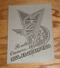 Original 1987 Pontiac Sunbird Owners Operators Manual 87