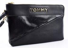 Tommy Hilfiger Mujer Imitación Cuero Bolso sin asas Bolso de Mano Bolso, Negro