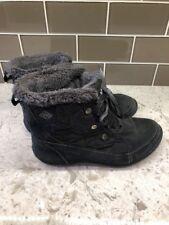 COLUMBIA 200 GRAMS WINTER SNOW BLACK BOOTS WOMENS SIZE 8 OMNI Heat