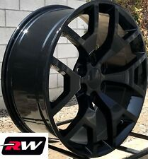 "20"" inch 20 x9"" Wheels for Chevy Avalanche Gloss Black GMC Sierra 2014 2015 Rims"