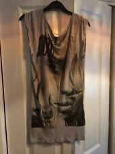 Ladies H&M Grey Sleeveless T-shirt Cool by Day, Hot by Night, UK Size 10