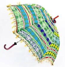 1 PC INDIAN BOHEMAIN TRADITIONAL UMBRELLA WORKED PARASOL RAJASTHANI TRADITIONAL